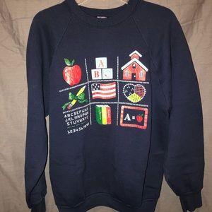 Sweaters - School themed crew neck